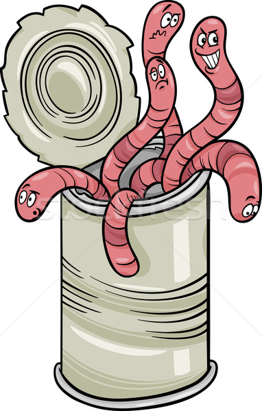 can of worms saying cartoon Stock photo © izakowski