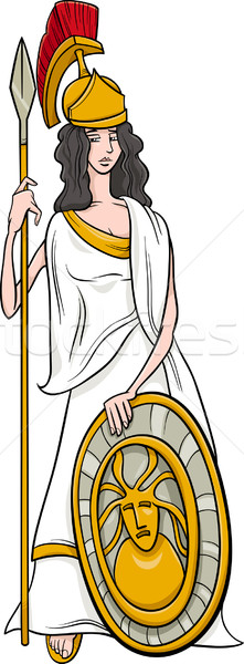 Grieks godin cartoon illustratie mythologisch vrouw Stockfoto © izakowski