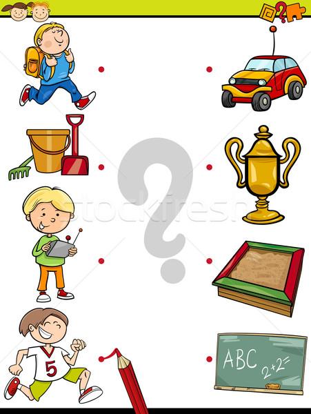 Combinar elementos educação jogo desenho animado ilustração Foto stock © izakowski