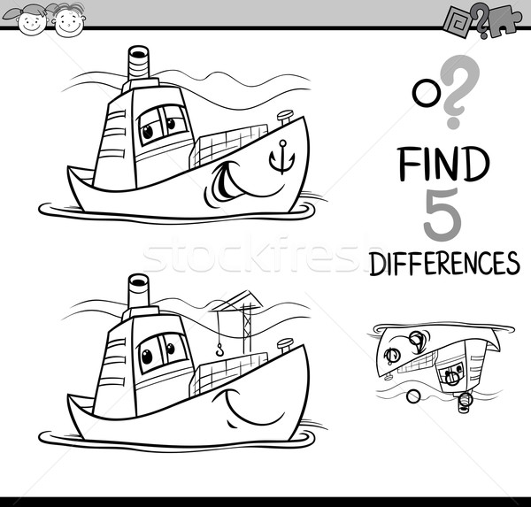 find the differences coloring page Stock photo © izakowski