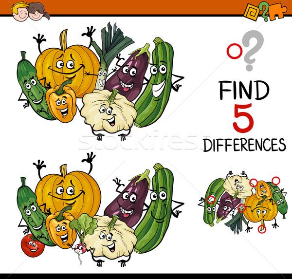 Encontrar diferenças tarefa desenho animado ilustração Foto stock © izakowski