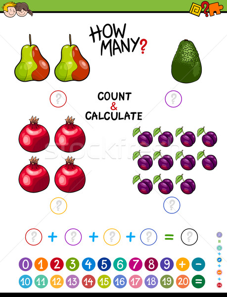 educational mathematical worksheet Stock photo © izakowski