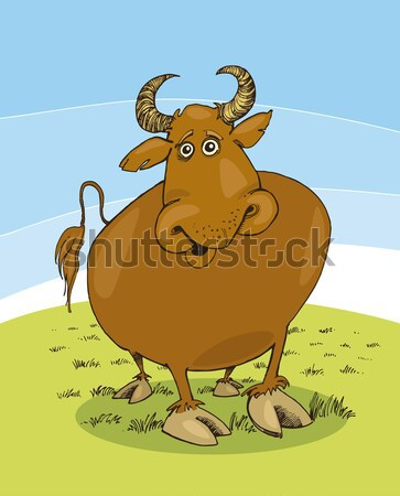 happy bull farm animal Stock photo © izakowski
