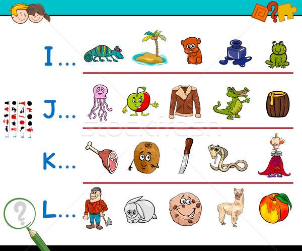 first letter of a word activity worksheet Stock photo © izakowski
