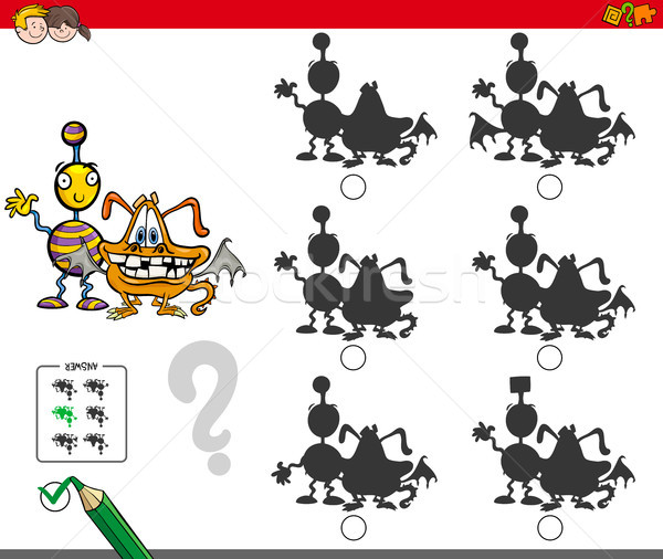 Mostri educativo ombra gioco cartoon illustrazione Foto d'archivio © izakowski