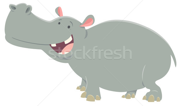 cartoon hippopotamus animal character Stock photo © izakowski