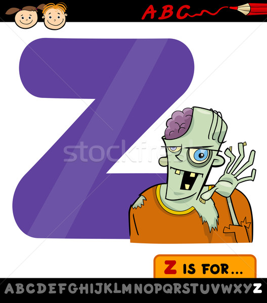 letter z for zombie cartoon illustration Stock photo © izakowski