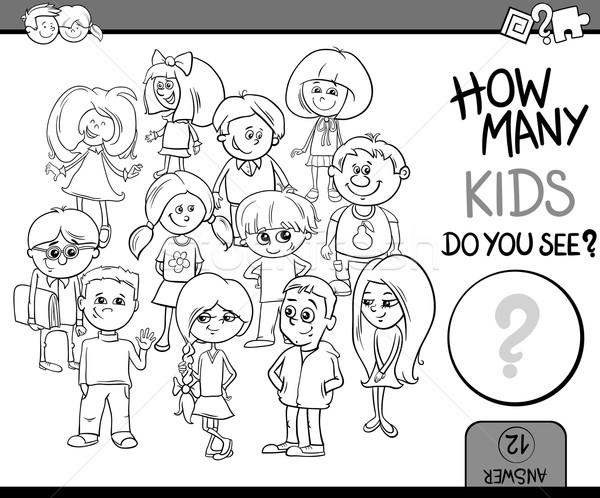 how many kids coloring book Stock photo © izakowski