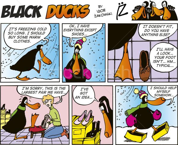 Black Ducks Comics episode 33 Stock photo © izakowski