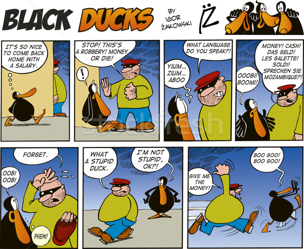 Zdjęcia stock: Czarny · komiks · ptaków · maska · uruchomić