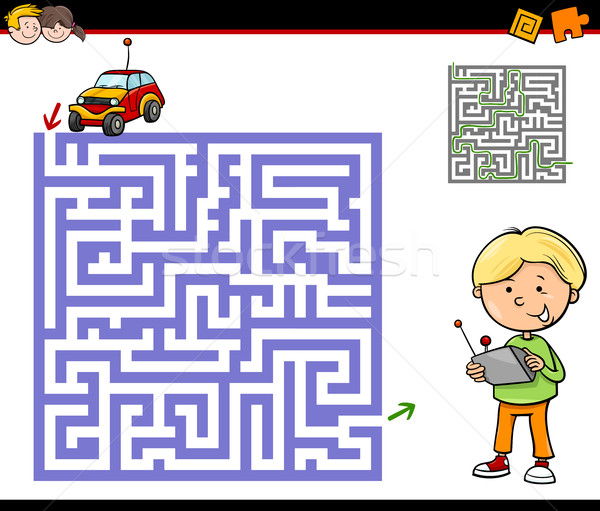 maze or labyrinth activity task Stock photo © izakowski