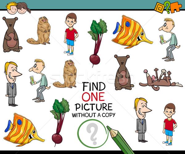 Educativo tarea ninos Cartoon ilustración actividad Foto stock © izakowski