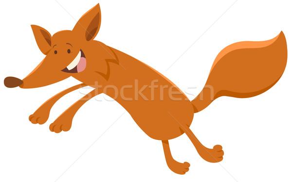 Heureux Fox animaux personnage cartoon illustration Photo stock © izakowski