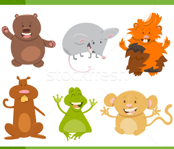 cartoon animal characters set Stock photo © izakowski