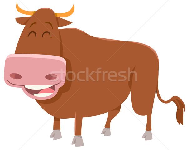 bull farm animal Stock photo © izakowski