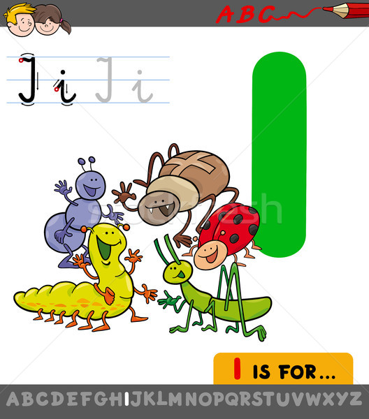 手紙i 漫画 昆虫 実例 ストックフォト © izakowski