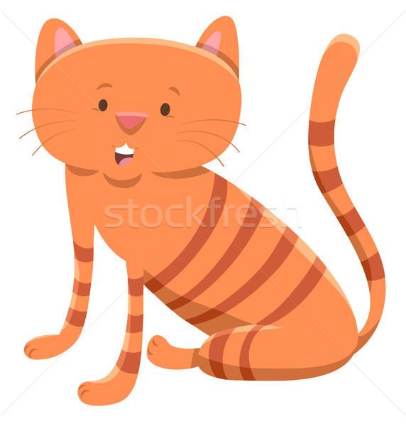 domestic cat cartoon animal character Stock photo © izakowski