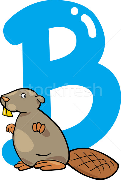 B for beaver Stock photo © izakowski