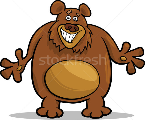 Bruine beer cartoon illustratie grappig groot grizzly Stockfoto © izakowski