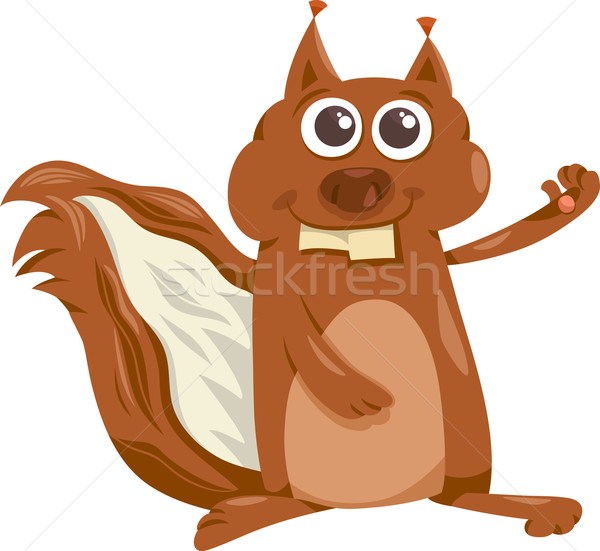 squirrel animal cartoon illustration Stock photo © izakowski