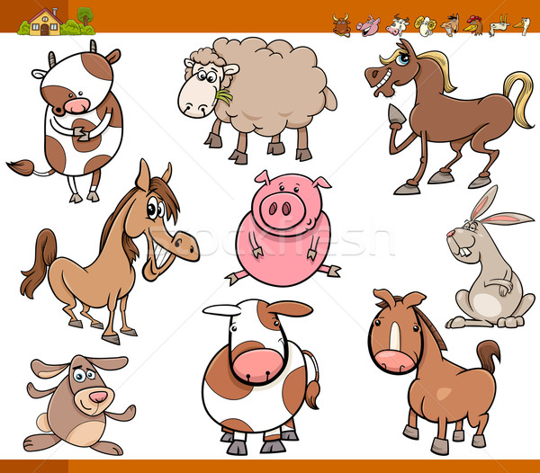Animaux de la ferme cartoon illustration drôle Photo stock © izakowski