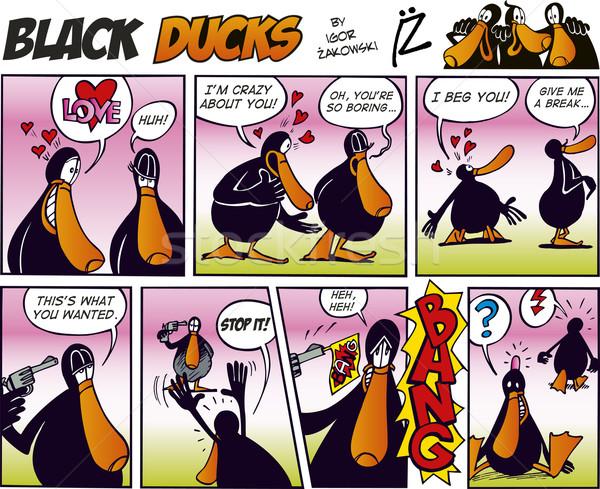 Black Ducks Comics episode 11 Stock photo © izakowski