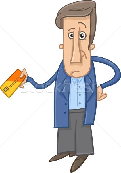 man with credit card cartoon Stock photo © izakowski