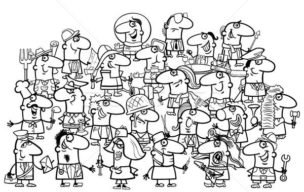 professional people for coloring Stock photo © izakowski