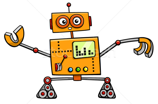 robot cartoon fantasy character Stock photo © izakowski
