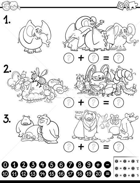 maths activity coloring page Stock photo © izakowski