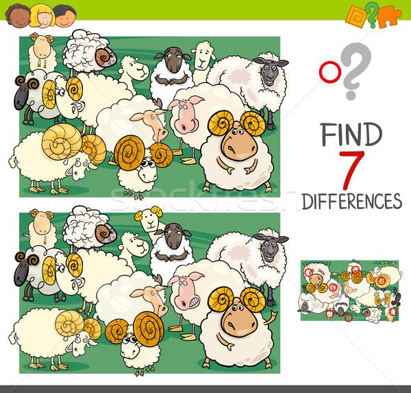 Bulmak farklılıklar koyun karikatür Stok fotoğraf © izakowski