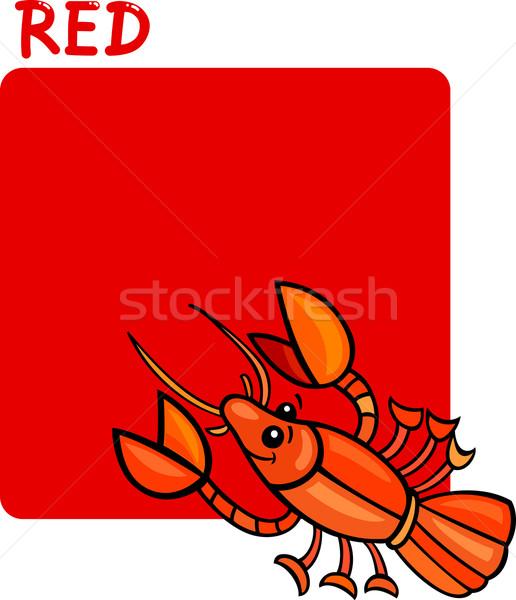Color Red and Crayfish Cartoon Stock photo © izakowski