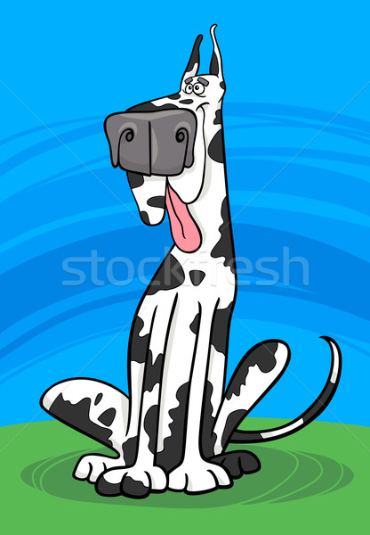 harlequin dog cartoon illustration Stock photo © izakowski