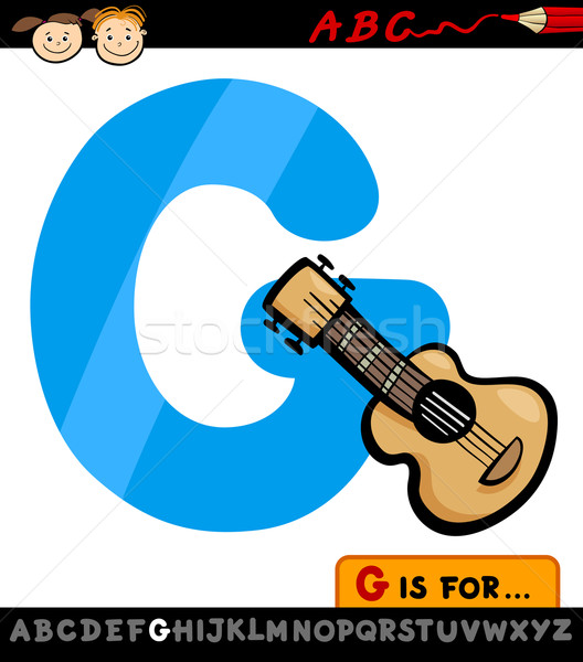 Mektup g gitar karikatür örnek alfabe Stok fotoğraf © izakowski