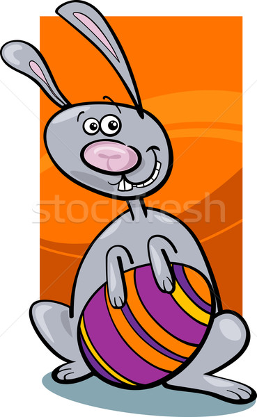 funny easter bunny cartoon illustration Stock photo © izakowski