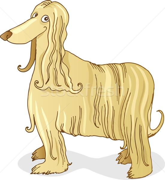 гончая собака иллюстрация счастливым смешные Сток-фото © izakowski
