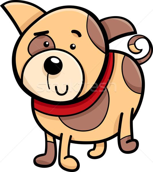 spotted puppy cartoon illustration Stock photo © izakowski