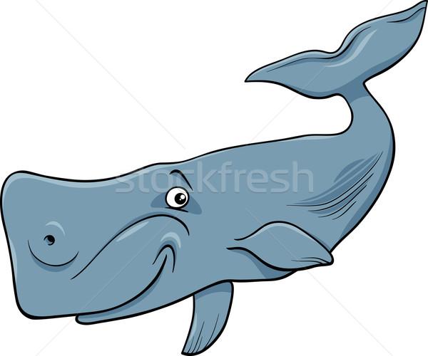 whale animal cartoon illustartion Stock photo © izakowski