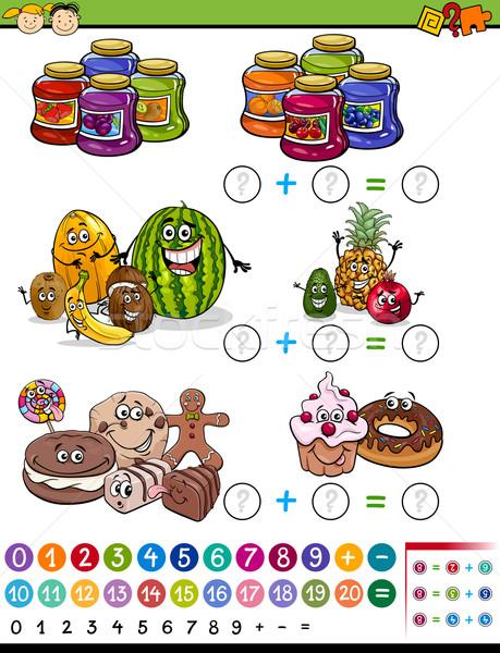 数学の ゲーム 漫画 実例 教育 代数 ストックフォト © izakowski
