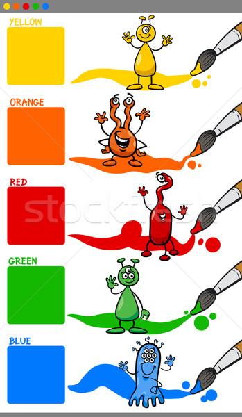 Primario colores Cartoon ilustración exóticas Foto stock © izakowski