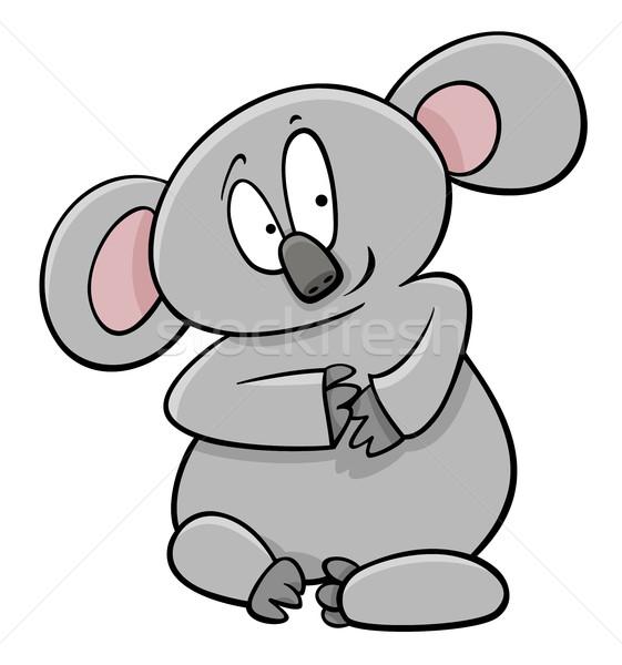 Koala rajzolt állat karakter rajz illusztráció vicces Stock fotó © izakowski