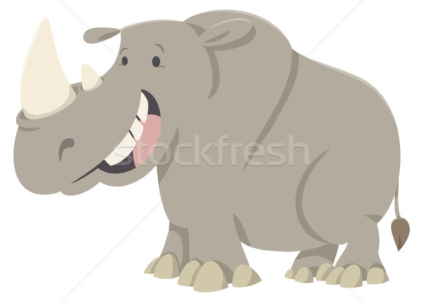 Rinoceronte desenho animado ilustração engraçado Foto stock © izakowski