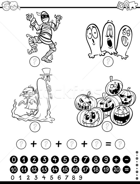 maths activity coloring page Stock photo © izakowski