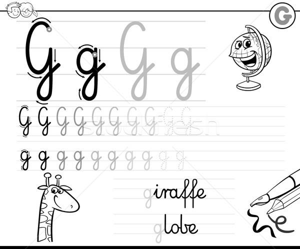 learn to write letter G workbook for kids Stock photo © izakowski