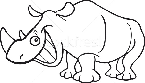 rhinoceros for coloring book Stock photo © izakowski
