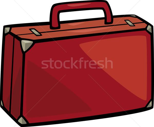 чемодан темам Cartoon иллюстрация дизайна рисунок Сток-фото © izakowski