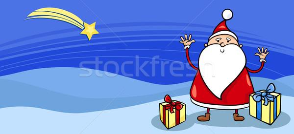 Santa with presents greeting card Stock photo © izakowski
