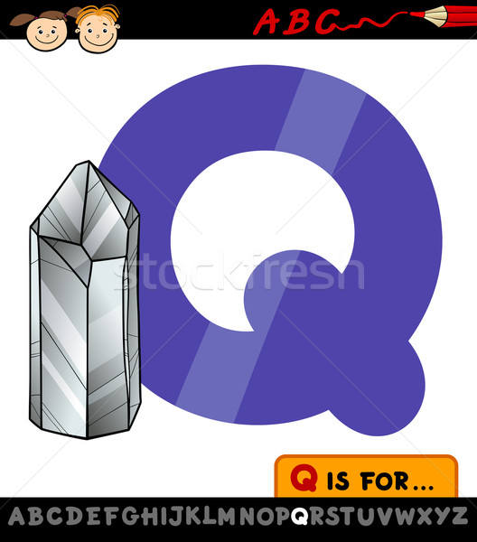 Quartzo ilustração desenho animado alfabeto Foto stock © izakowski
