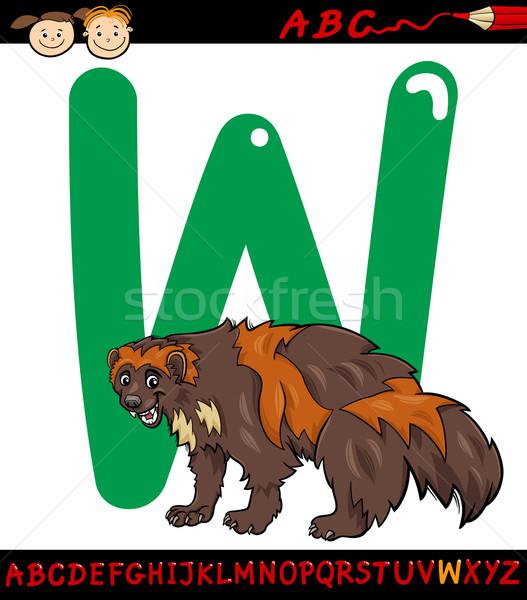 List w cartoon ilustracja alfabet zwierząt Zdjęcia stock © izakowski