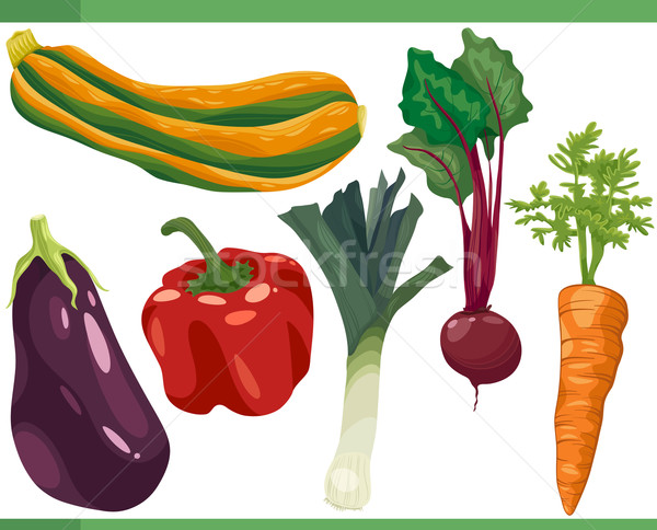 vegetables cartoon set illustration Stock photo © izakowski